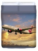 Virgin Atlantic Boeing 787 Dreamliner Duvet Cover