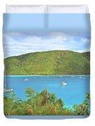 Virgin Island Getaway Duvet Cover