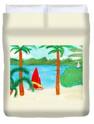 Virgin Island Memories Duvet Cover