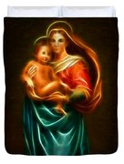 Virgin Mary And Baby Jesus Duvet Cover