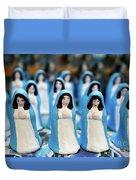 Virgin Mary Figurines Duvet Cover