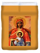 Virgin Mary Old Painting Duvet Cover