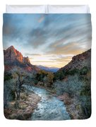 Virgin River And The Watchman Duvet Cover