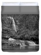 Virgina Falls In The Pool - Black And White Duvet Cover