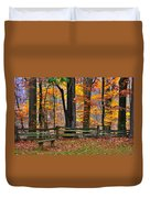 Virginia Country Roads - A Seat With A View - Autumn Colorfest No. 1 Near Mabry Mill - Floyd County Duvet Cover