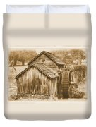 Virginia Country Roads - Mabry Mill No. 23 Sepia - Blue Ridge Parkway, Floyd County Duvet Cover
