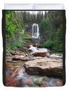 Virginia Falls - Glacier N.p. Duvet Cover