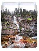 Virginia Falls - Glacier National Park Duvet Cover