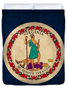 Virginia State Flag Art On Worn Canvas Edition 2 Duvet Cover