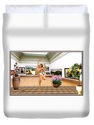 Virtual Exhibition - Dacanvasncing Girl Duvet Cover