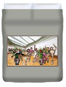Virtual Exhibition - Dance Of Opening The Exhibition Duvet Cover