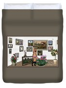 Virtual Exhibition - Girl With Boots Duvet Cover
