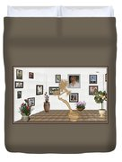 Virtual Exhibition - Statue Of Bonsai 1 Duvet Cover