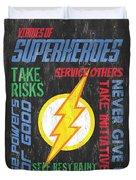 Virtues Of A Superhero 2 Duvet Cover