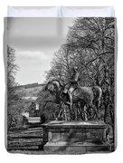 Viscount Gough On Horseback. Duvet Cover