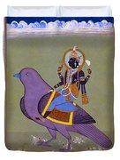 Vishnu On A Bird Duvet Cover