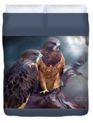 Vision Of The Hawk Duvet Cover