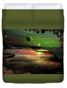 Visions In My Head Duvet Cover