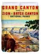 Visit Grand Canyon - Vintgelized Duvet Cover
