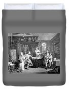 Visit To The Quack Doctor, 1745 Duvet Cover