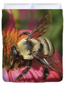 Visitor Up Close Coneflower  Duvet Cover