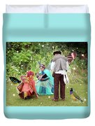 Visitors At A Fairy Blessing Duvet Cover