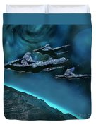 Visitors Duvet Cover by Corey Ford