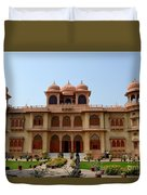Visitors Wander Around Gardens Of Mohatta Palace Museum Karachi Sindh Pakistan Duvet Cover
