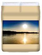 Vistula River Sunset 2 Duvet Cover by Tomasz Dziubinski