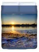 Vistula River Sunset 3 Duvet Cover