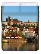 Vitus Cathedral Over Vltava  Duvet Cover