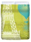 Viva La Paris Duvet Cover