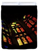 Vivacious Stained Glass Windows Duvet Cover