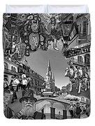 Vive Les French Quarter Monochrome Duvet Cover