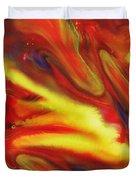 Vivid Abstract Vibrant Sensation IIi Duvet Cover