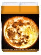 Vivid Full Moon Duvet Cover