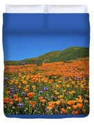 Vivid Memories Of The Walker Canyon Superbloom Duvet Cover