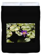 Vivid Purple Water Lilly Duvet Cover