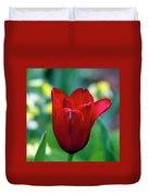 Vivid Red Tulip Duvet Cover