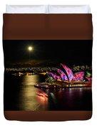 Vivid Sydney Under Full Moon Duvet Cover