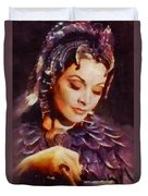 Vivien Leigh, Vintage Hollywood Actress Duvet Cover