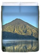 Volcano And Reflection Lake Atitlan Guatemala 3 Duvet Cover