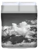 Volcano Chachani In Arequipa Peru Covered By Clouds Duvet Cover