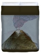 Volcano Dawn - Original Acrylic Painting Duvet Cover