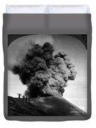 Volcano: Java, 1910 Duvet Cover