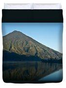 Volcano Reflected In Atitlan Lake 5 Duvet Cover