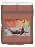 Volleyball Dig Duvet Cover