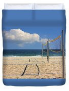 Volleyball Net Duvet Cover
