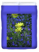 Voltage Yellow And Electric Blue 06 Duvet Cover