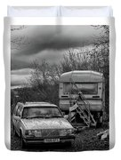 Volvo And Trailer Duvet Cover